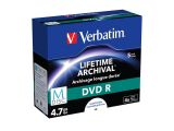 M-DISC DVD R VERBATIM 4.7GB X4 PRINTABLE (5 JEWEL CASE)