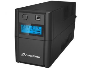 PowerWalker UPS  LINE-INTERACTIVE 650VA 2X SCHUKO, RJ11 IN/OUT,  USB, LCD