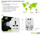 Adapter wtyku zasilania Green Cell Europa Ameryka UK Australia