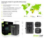 Adapter wtyku zasilania Green Cell Europa Ameryka UK Australia + USB